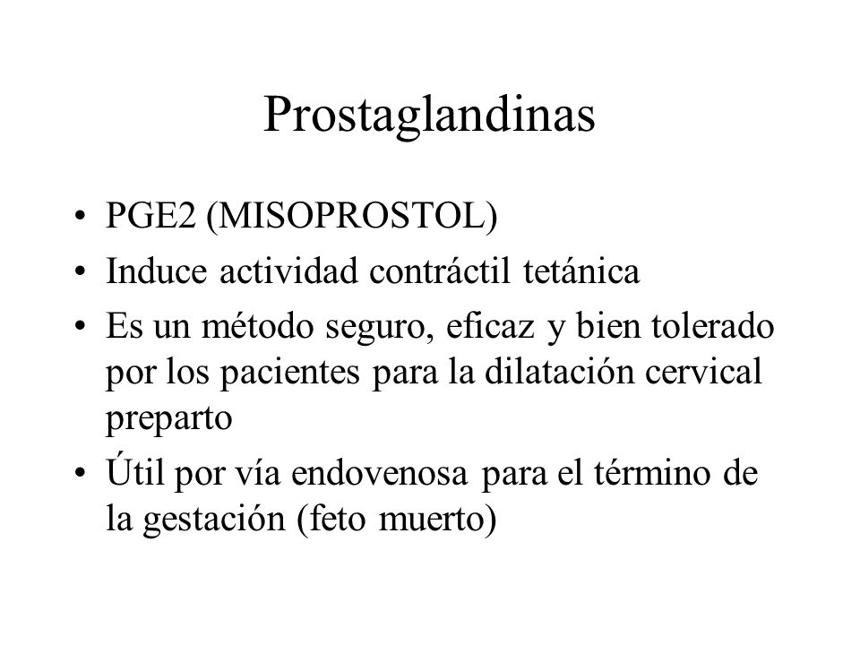 Prostaglandinas PGE2 (MISOPROSTOL)