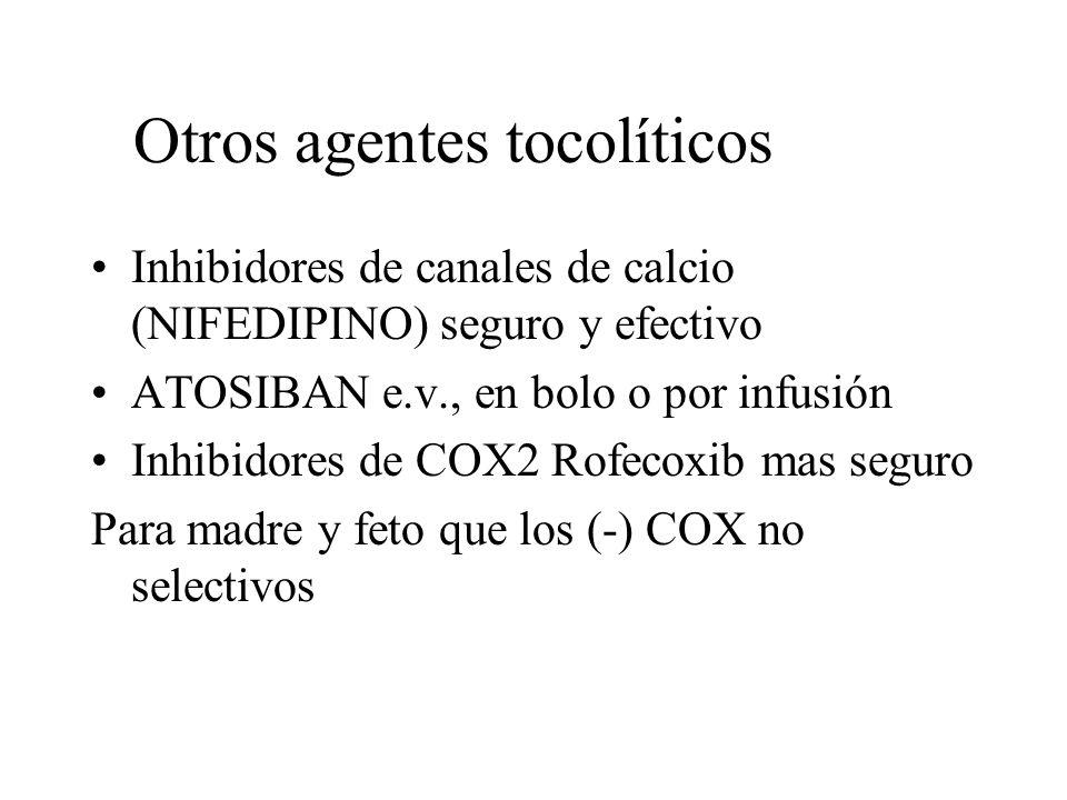 Otros agentes tocolíticos