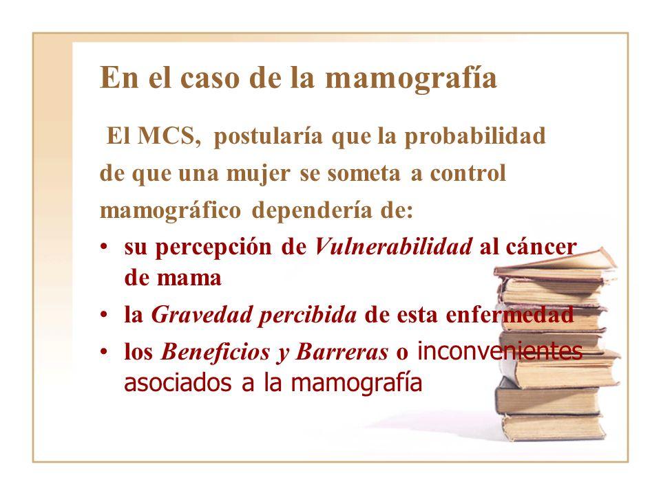 En el caso de la mamografía
