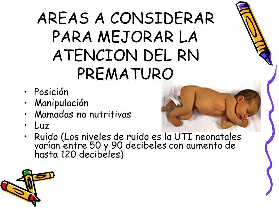 AREAS A CONSIDERAR PARA MEJORAR LA ATENCION DEL RN PREMATURO