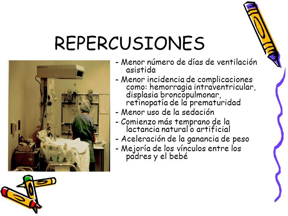 REPERCUSIONES - Menor número de días de ventilación asistida