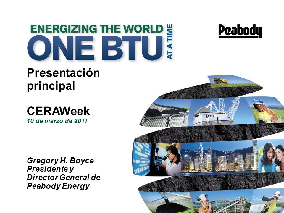 principal CERAWeek 10 de marzo de 2011 Presentación