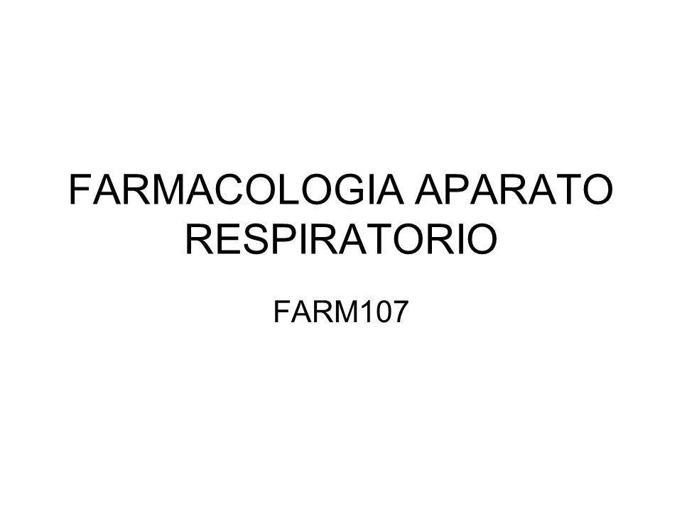 FARMACOLOGIA APARATO RESPIRATORIO