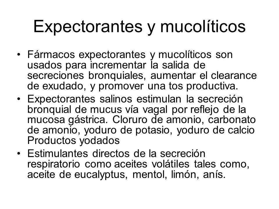 Expectorantes y mucolíticos