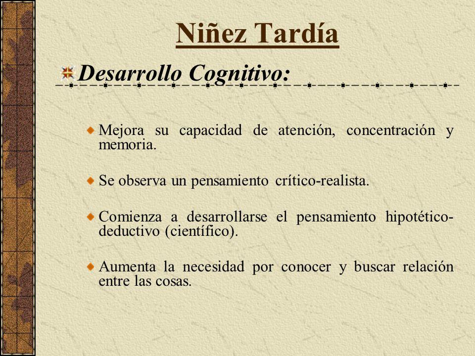 Niñez Tardía Desarrollo Cognitivo:
