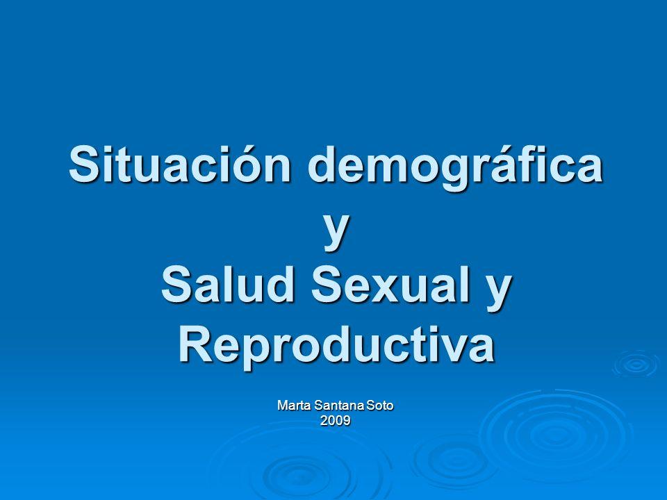 Situación demográfica y Salud Sexual y Reproductiva