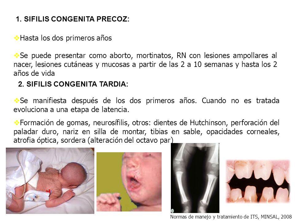 1. SIFILIS CONGENITA PRECOZ: