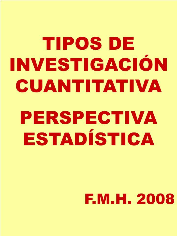 TIPOS DE INVESTIGACIÓN CUANTITATIVA PERSPECTIVA ESTADÍSTICA
