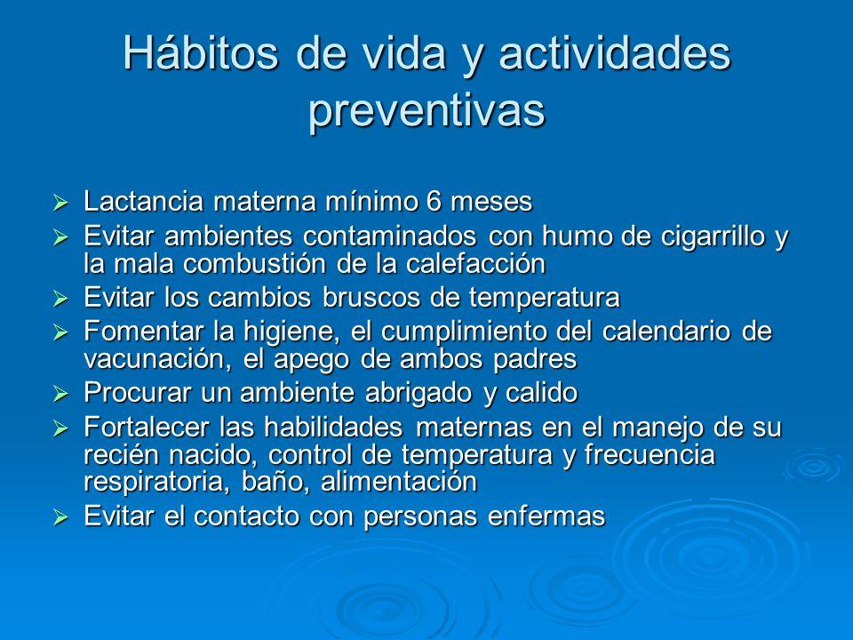Hábitos de vida y actividades preventivas