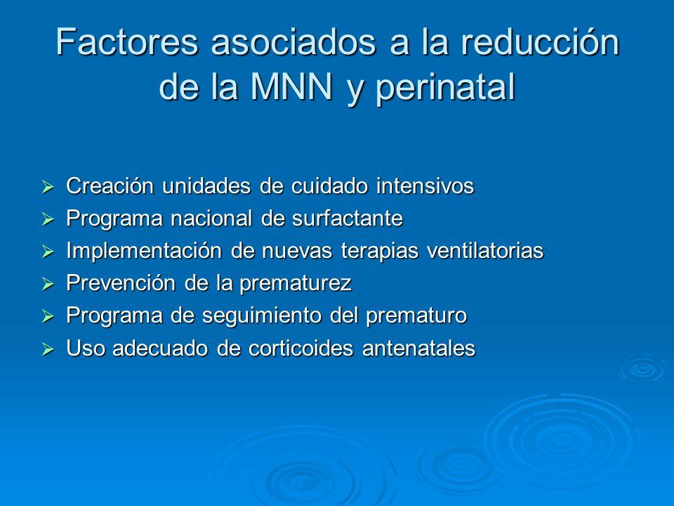 Factores asociados a la reducción de la MNN y perinatal