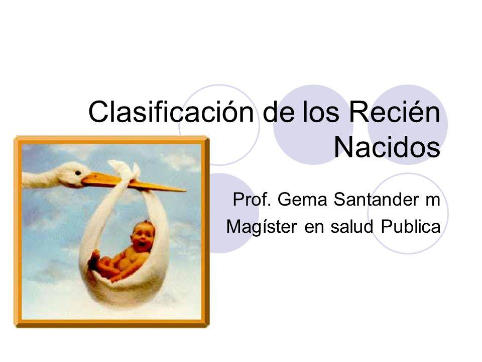 Clasificación de los Recién Nacidos