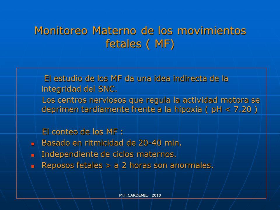 Monitoreo Materno de los movimientos fetales ( MF)