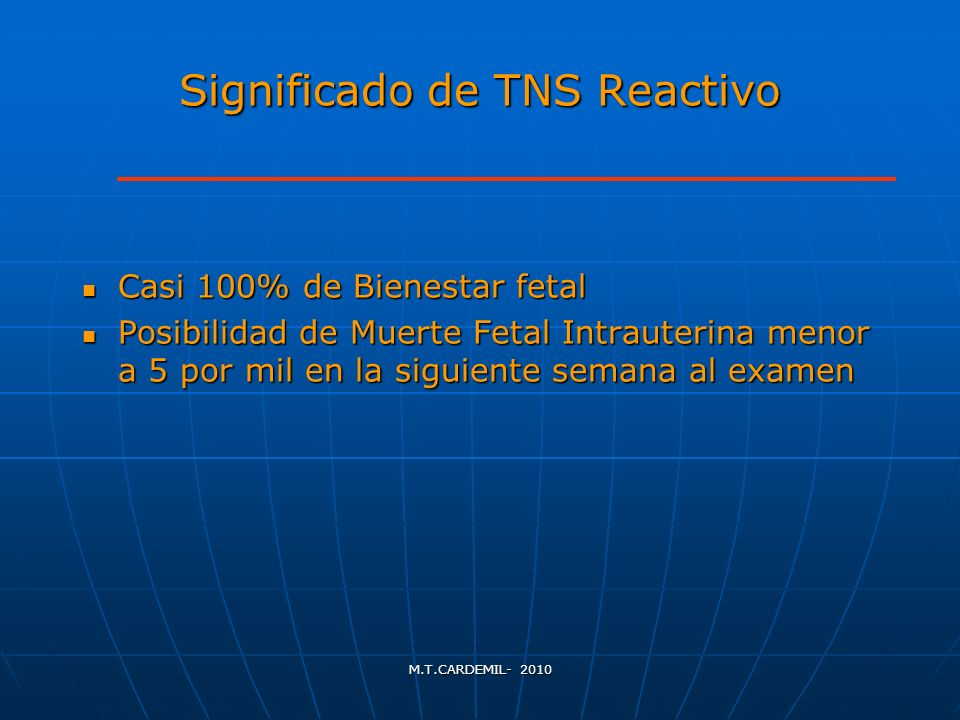 Significado de TNS Reactivo