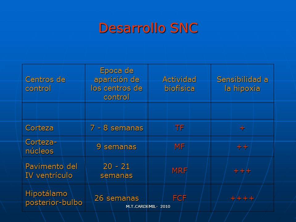 Desarrollo SNC Centros de control