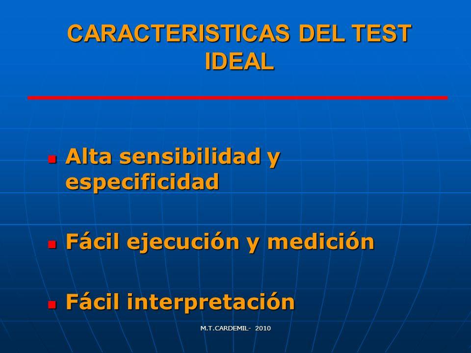 CARACTERISTICAS DEL TEST IDEAL