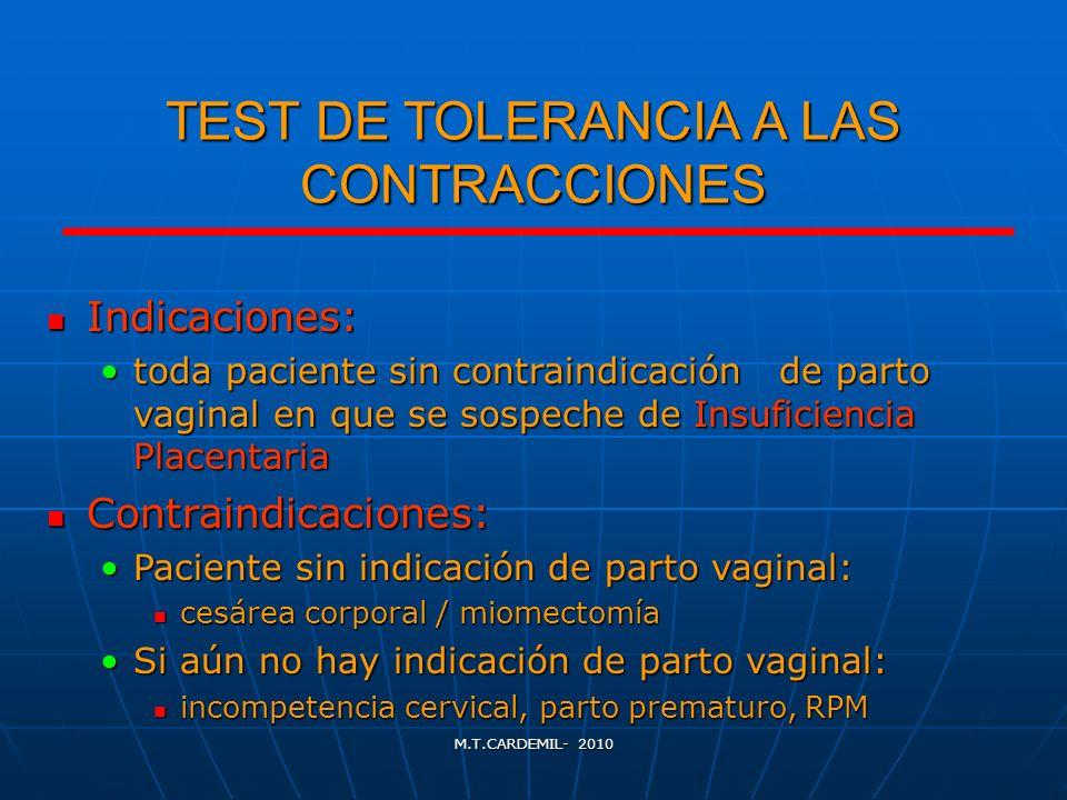 TEST DE TOLERANCIA A LAS CONTRACCIONES