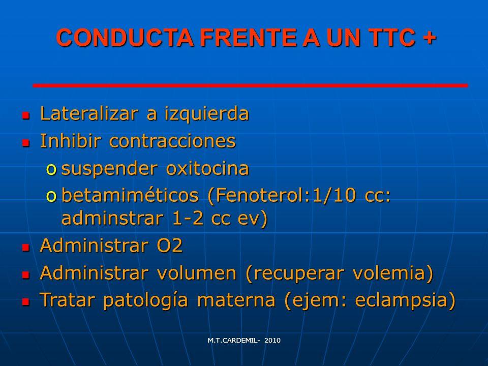CONDUCTA FRENTE A UN TTC +