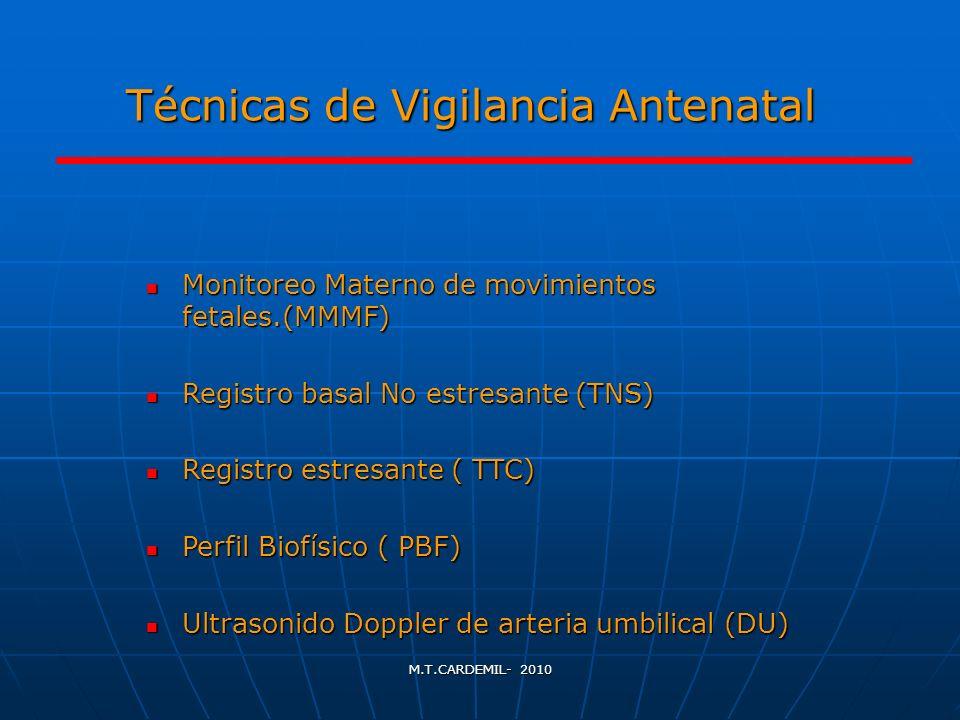 Técnicas de Vigilancia Antenatal