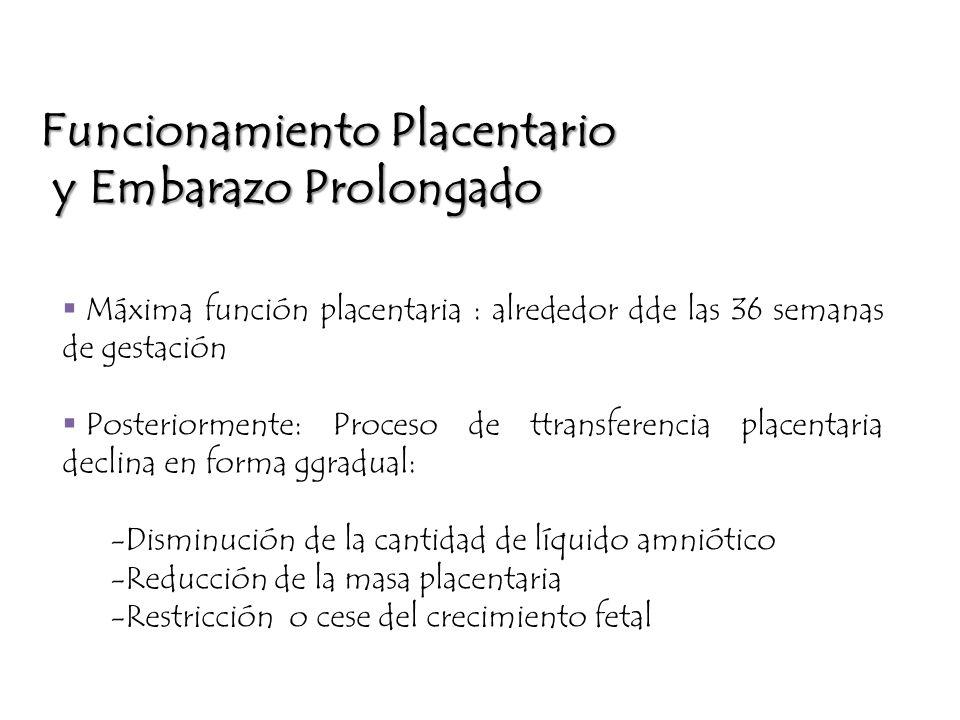 Funcionamiento Placentario y Embarazo Prolongado