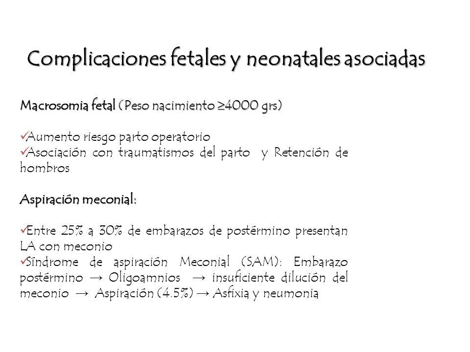 Complicaciones fetales y neonatales asociadas