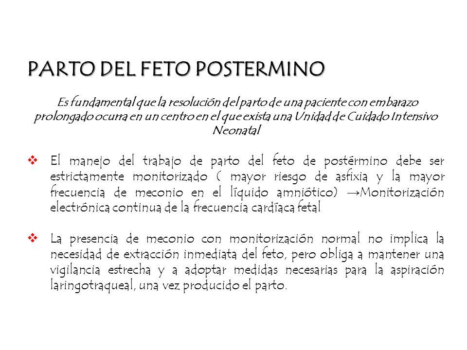PARTO DEL FETO POSTERMINO