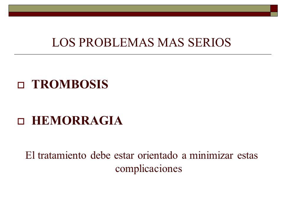 LOS PROBLEMAS MAS SERIOS