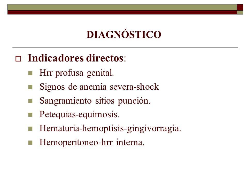 Indicadores directos: