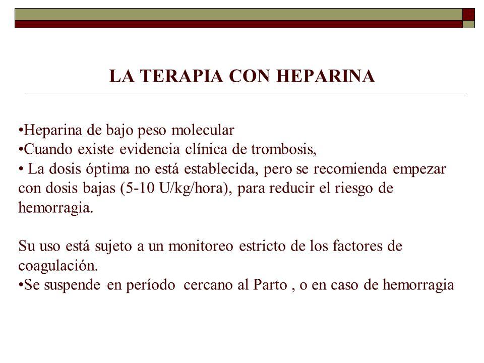 LA TERAPIA CON HEPARINA