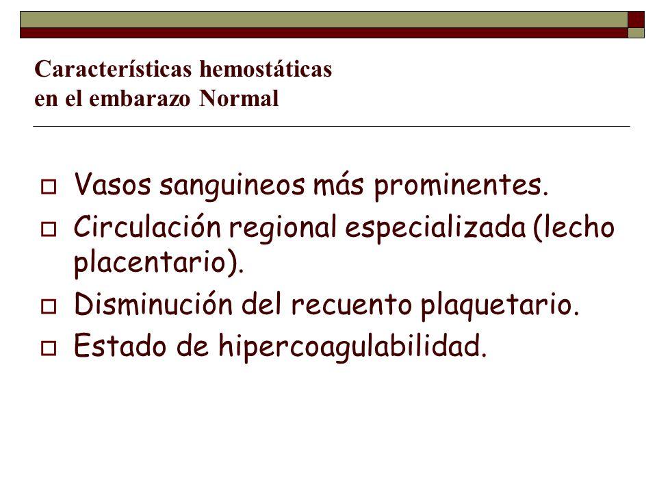Características hemostáticas en el embarazo Normal