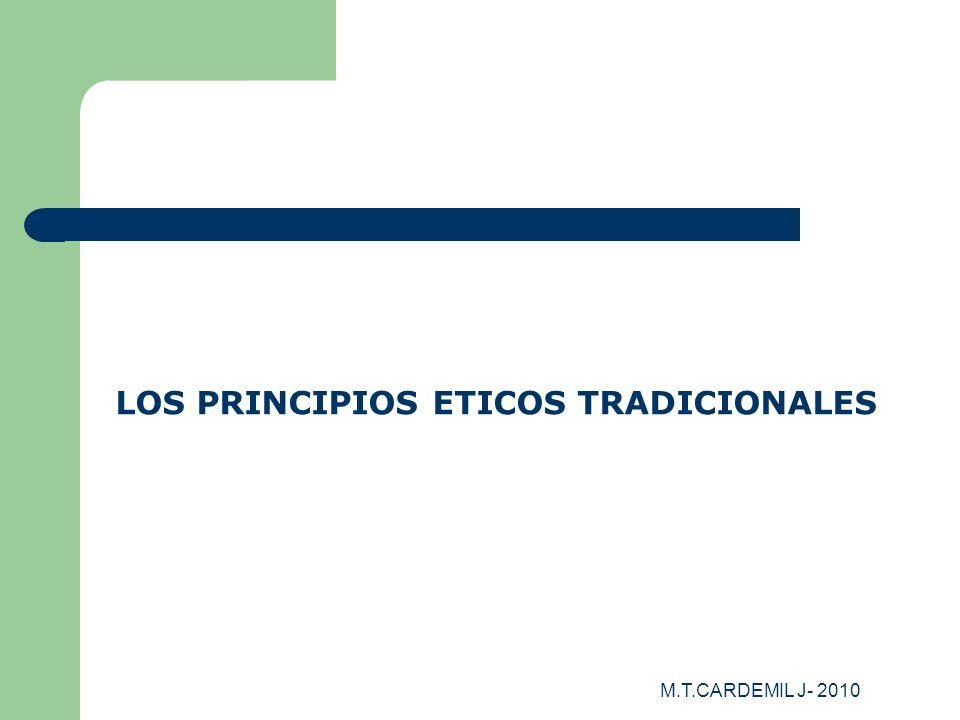 LOS PRINCIPIOS ETICOS TRADICIONALES