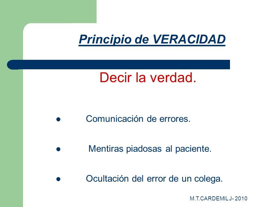 Principio de VERACIDAD