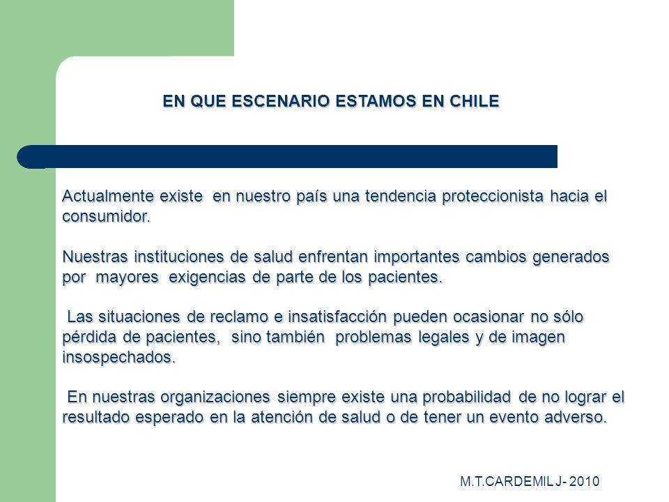 EN QUE ESCENARIO ESTAMOS EN CHILE