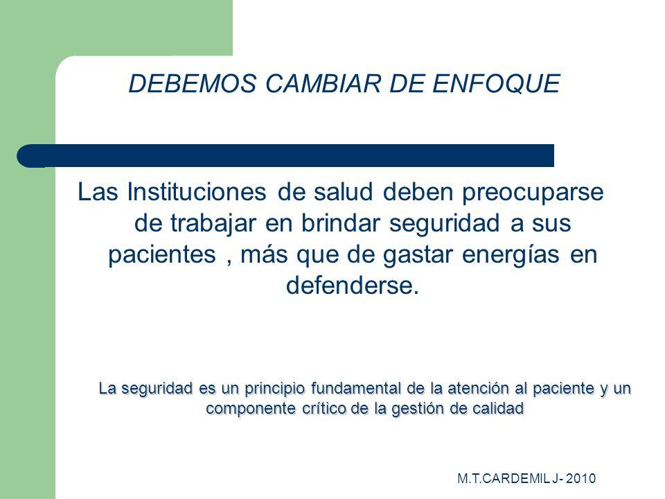 DEBEMOS CAMBIAR DE ENFOQUE