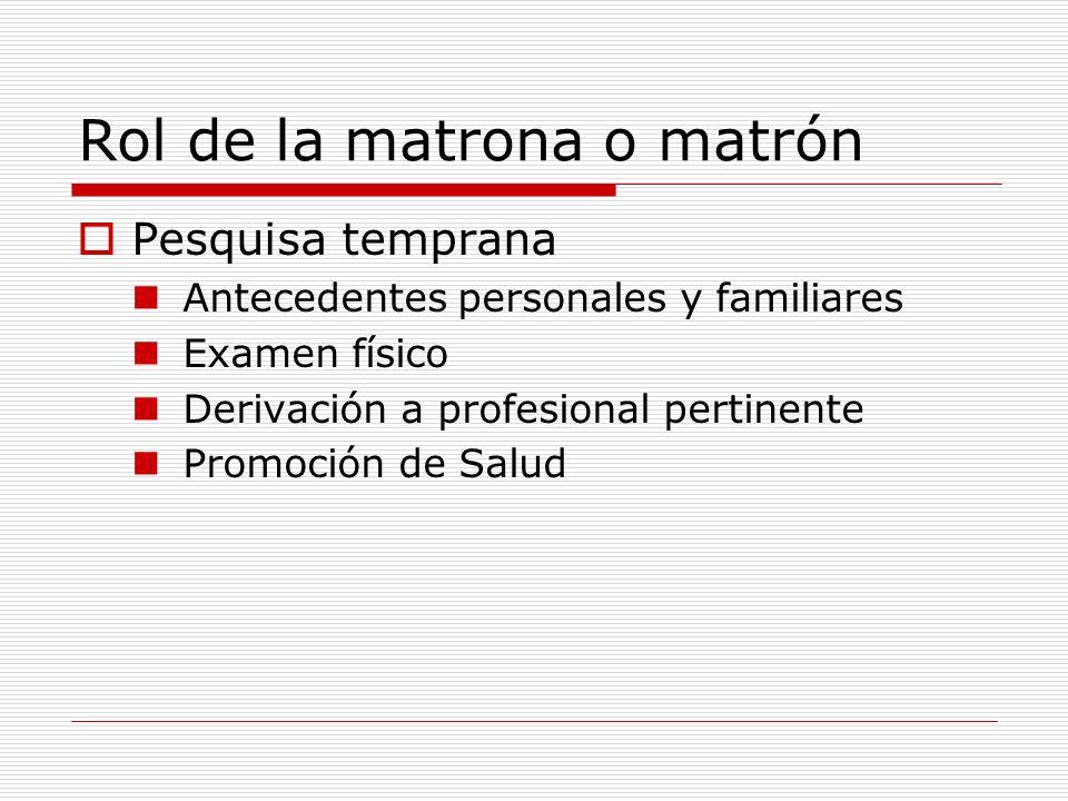 Rol de la matrona o matrón