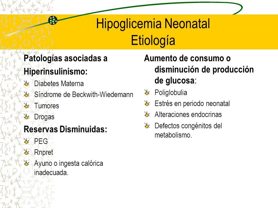 Hipoglicemia Neonatal Etiología
