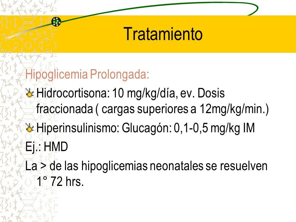 Tratamiento Hipoglicemia Prolongada:
