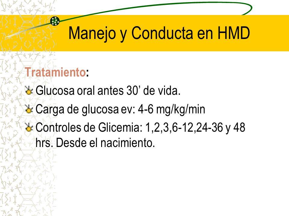 Manejo y Conducta en HMD