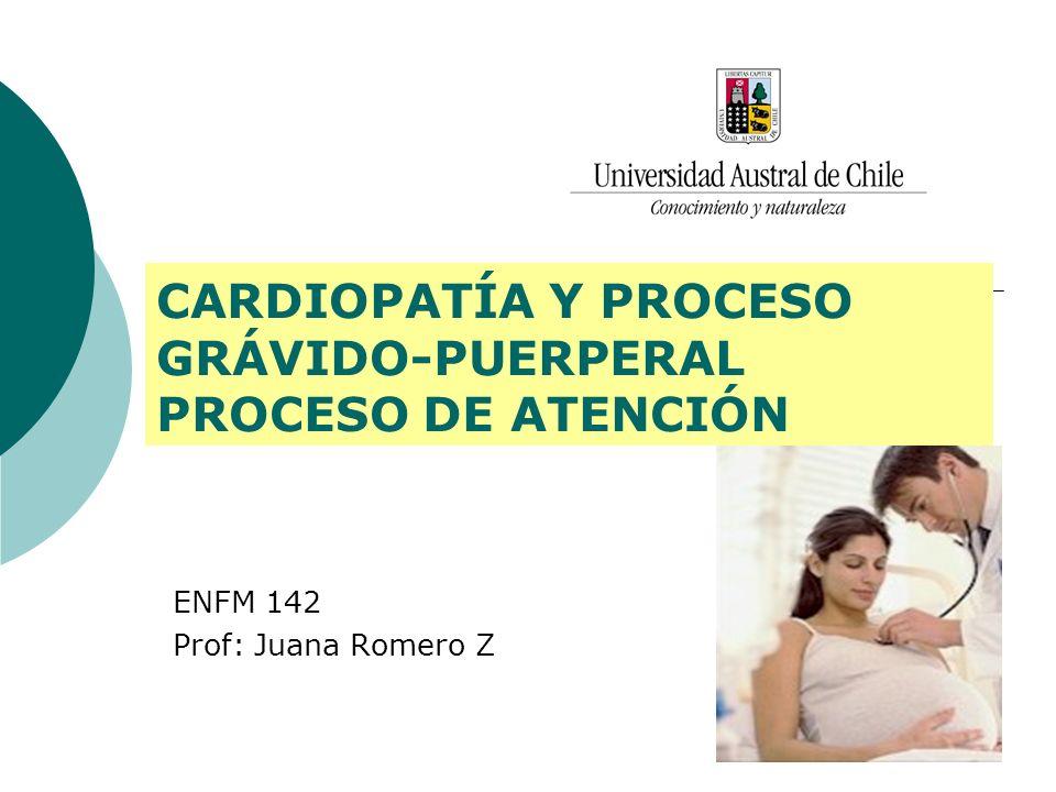 CARDIOPATÍA Y PROCESO GRÁVIDO-PUERPERAL PROCESO DE ATENCIÓN