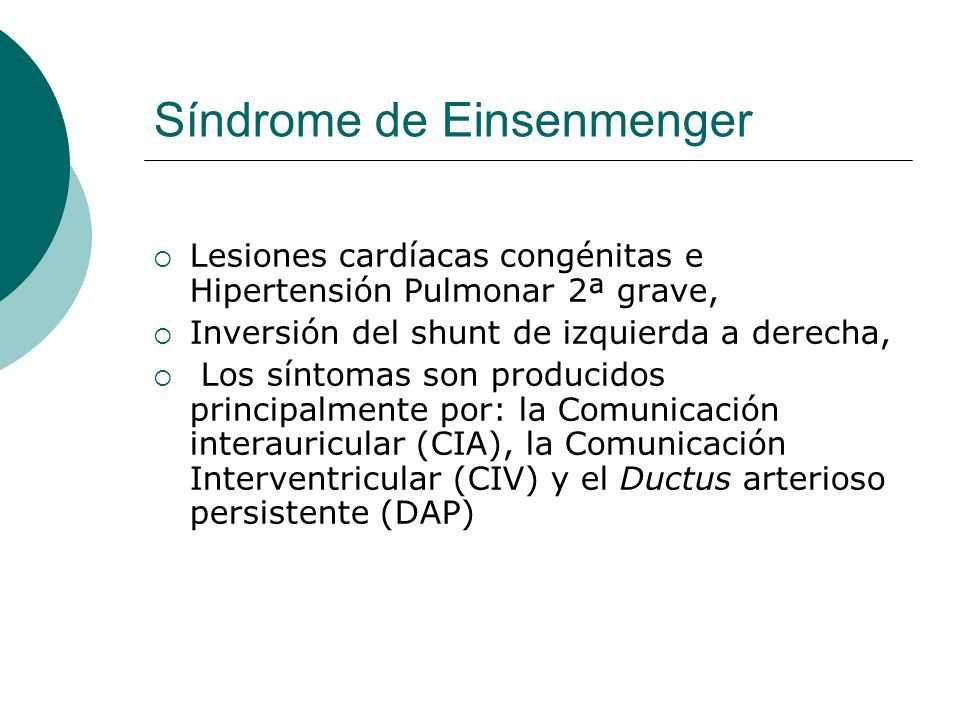 Síndrome de Einsenmenger