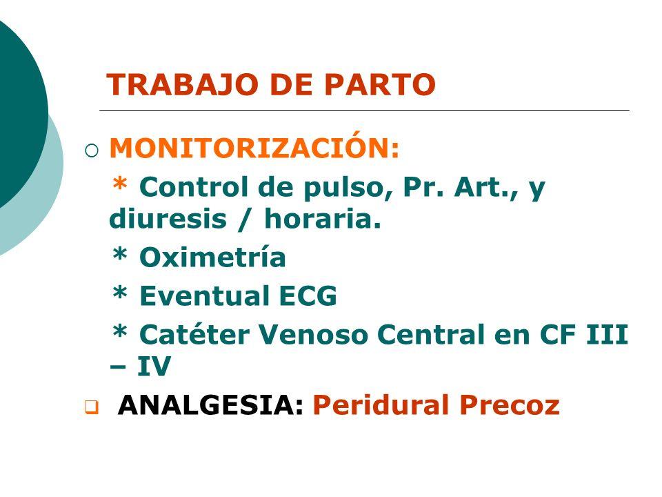 TRABAJO DE PARTO MONITORIZACIÓN: