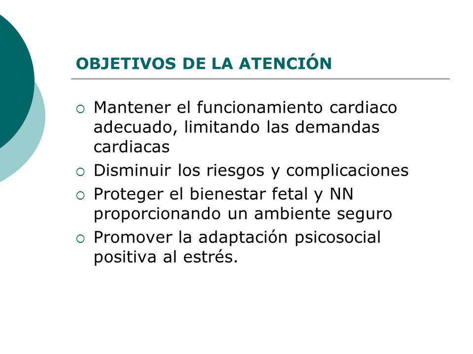 OBJETIVOS DE LA ATENCIÓN