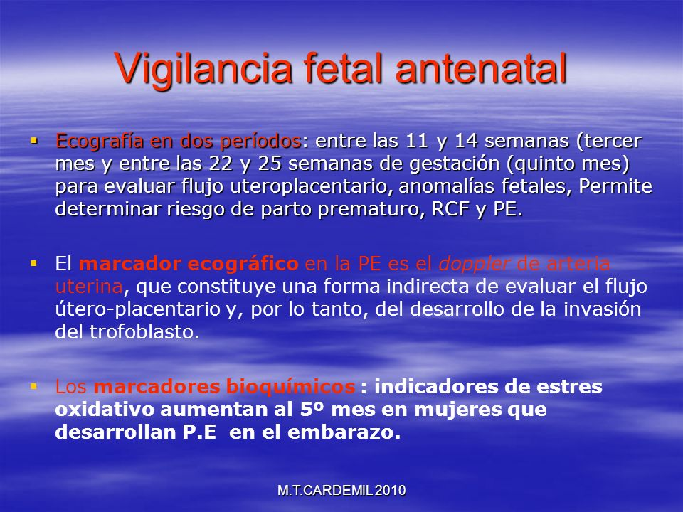 Vigilancia fetal antenatal