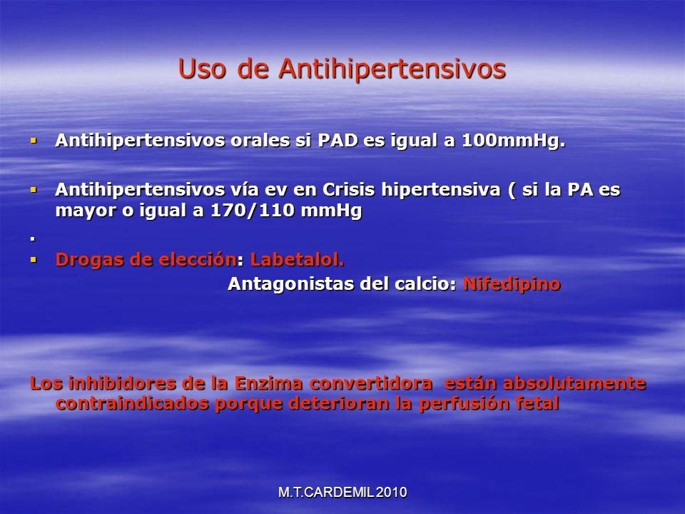 Uso de Antihipertensivos
