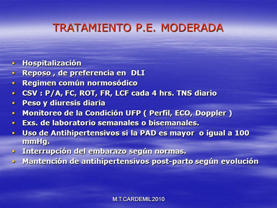 TRATAMIENTO P.E. MODERADA