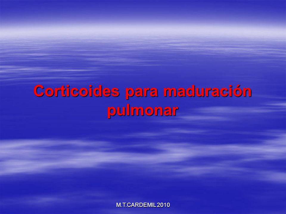 Corticoides para maduración pulmonar