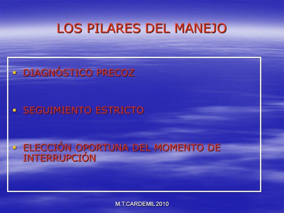 LOS PILARES DEL MANEJO DIAGNÓSTICO PRECOZ SEGUIMIENTO ESTRICTO