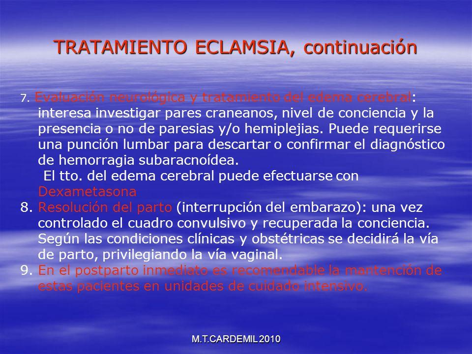 TRATAMIENTO ECLAMSIA, continuación