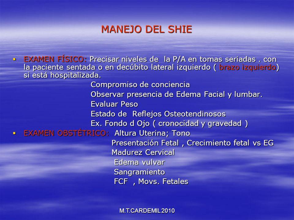 MANEJO DEL SHIE