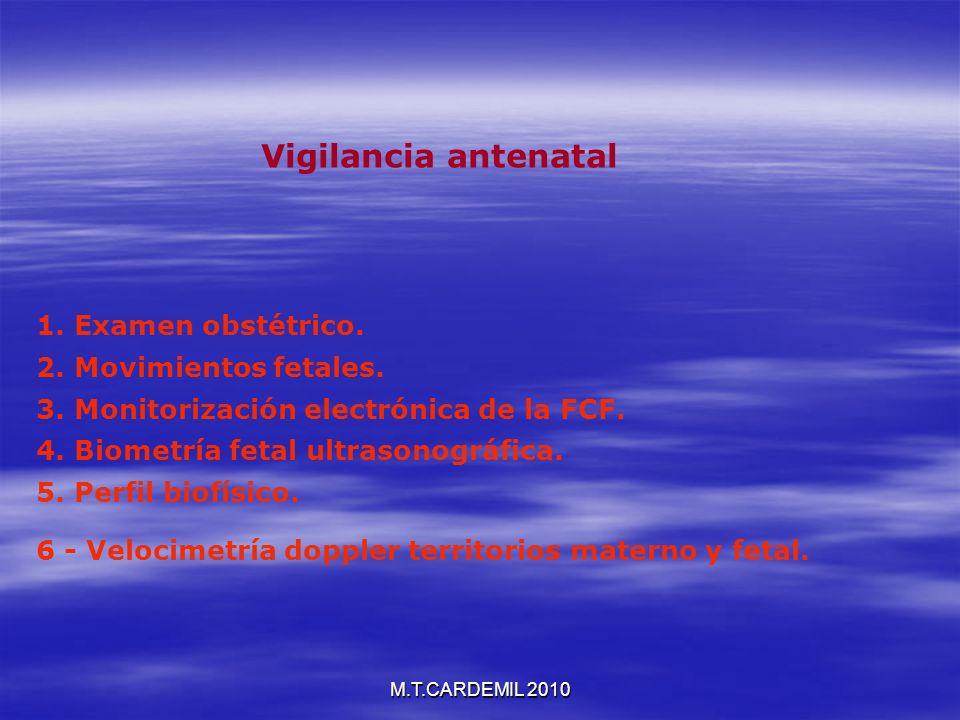 Vigilancia antenatal 1. Examen obstétrico. 2. Movimientos fetales.