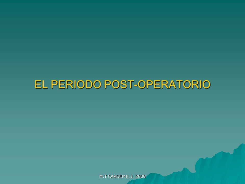 EL PERIODO POST-OPERATORIO